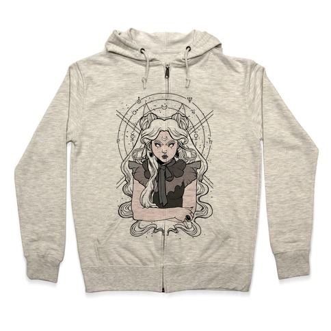 Goth Usagi (Sailor Moon Parody) Zip Hoodie