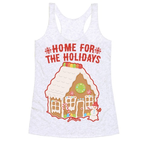 Home For The Holidays Gingerbread Racerback Tank Top