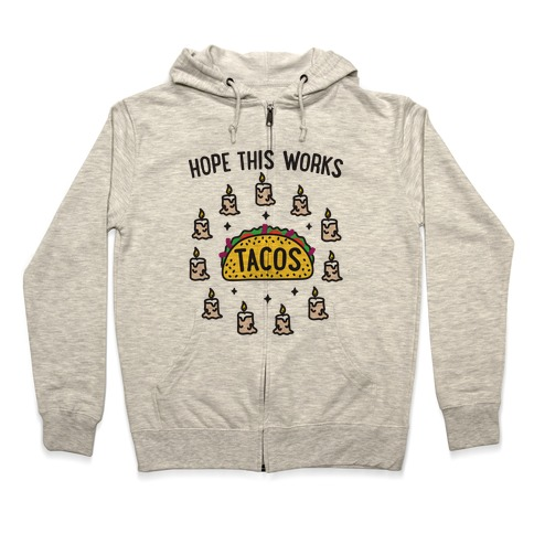 Tacos Summoning Circle Zip Hoodie