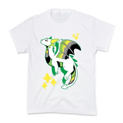 Aromantic Pride Dragon Kids T-Shirt