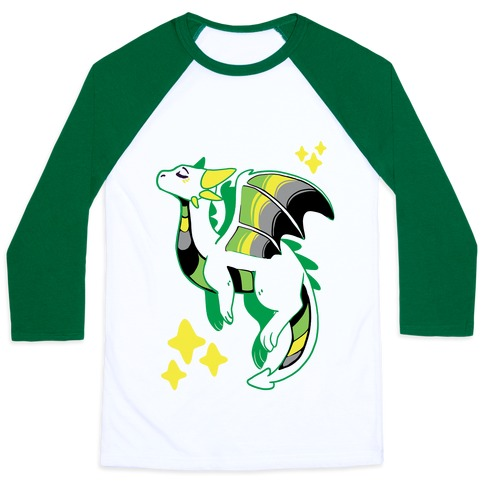 Aromantic Pride Dragon Baseball Tee