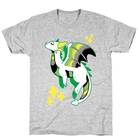 Aromantic Pride Dragon Mens/Unisex T-Shirt