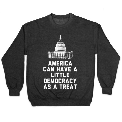America Can Have a Little Democracy As a Treat Congress Pullover