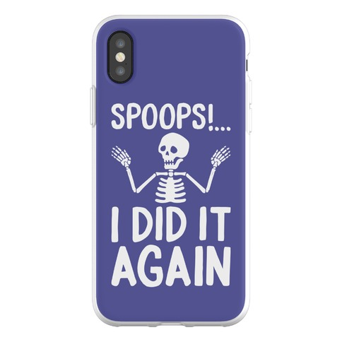 Spoops!...I Did It Again Phone Flexi-Case