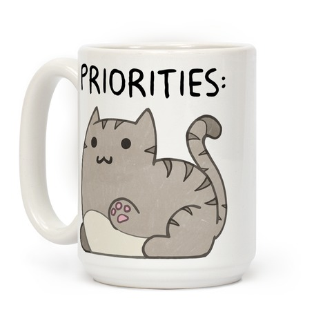 Cat Priorities Coffee Mug