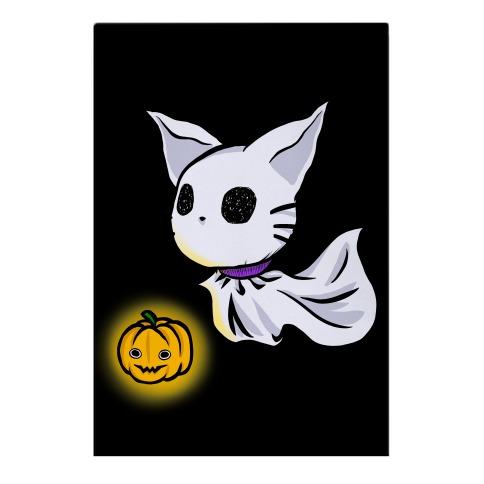 Ghost Cat Garden Flag