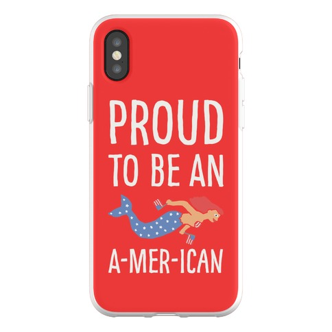 Proud To Be An A-MER-ican Phone Flexi-Case