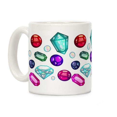 Gemstones Pattern Coffee Mug