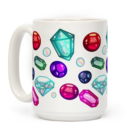 Gemstones Pattern Coffee Mug