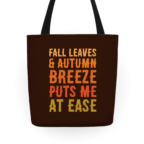 Fall Leaves and Autumn Breeze Tote