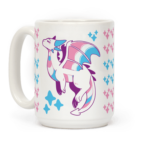 Trans Pride Dragon Coffee Mug