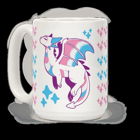 Trans Pride Dragon Coffee Mug
