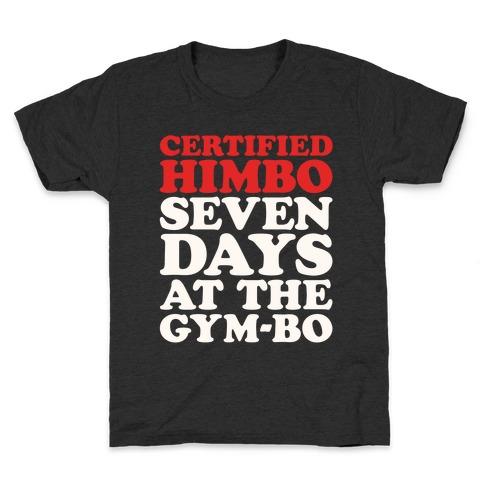Certified Himbo White Print Kids T-Shirt