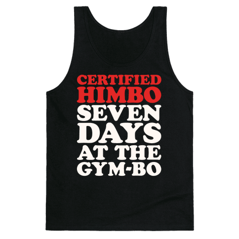 Certified Himbo White Print Tank Top