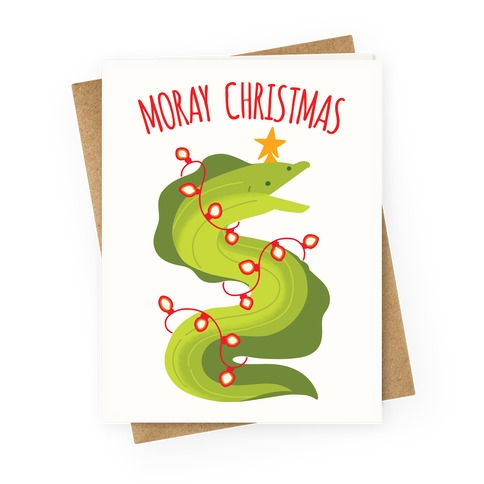 Moray Christmas Greeting Card