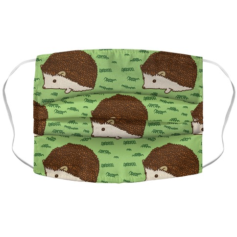 Cute Hedgehog Pattern Face Mask Cover