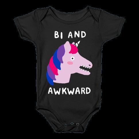 Bi And Awkward Baby Onesy