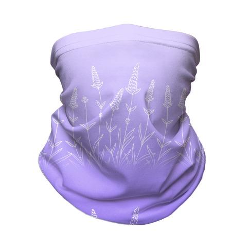 Lavender Sprigs Gradient Neck Gaiter