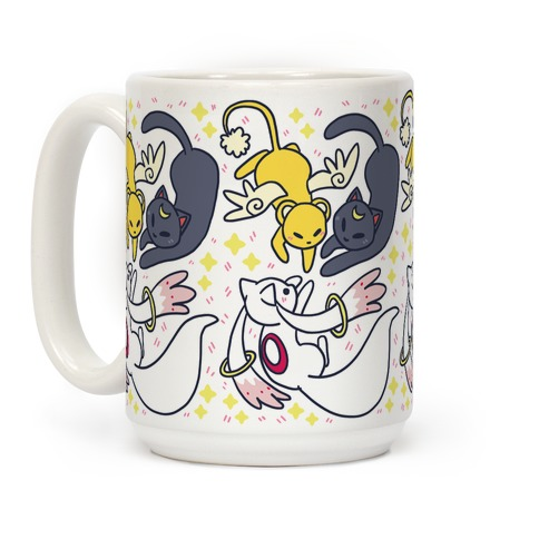 Magical Mascots - Luna, Kero and Kyubey Coffee Mug