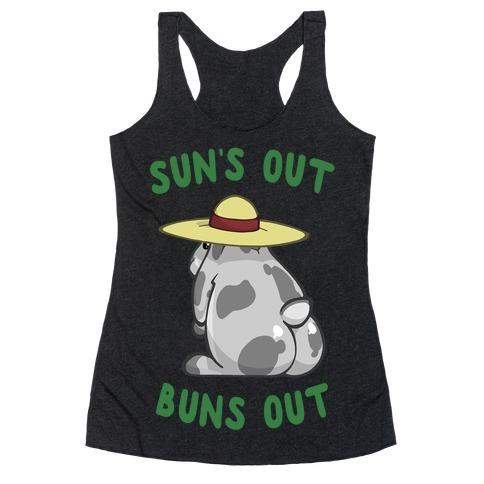 Sun's Out Buns Out Bunny Racerback Tank Top