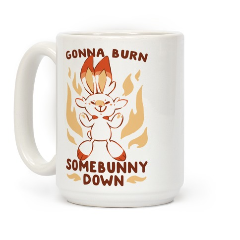 Gonna Burn Somebunny Down - Scorbunny Coffee Mug