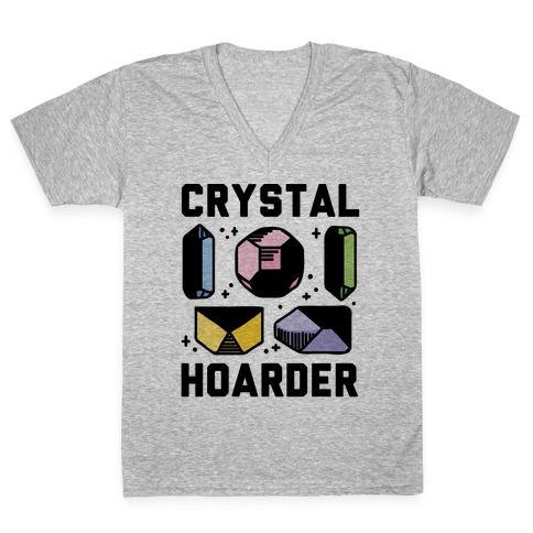 Crystal Hoarder V-Neck Tee Shirt