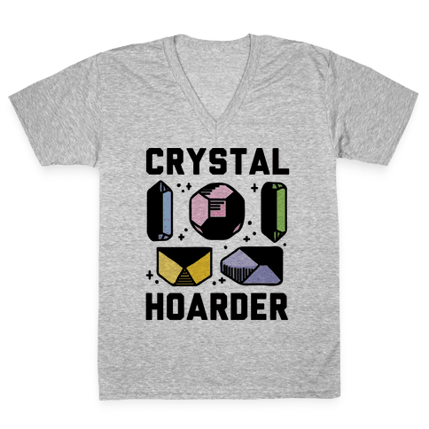 Crystal Hoarder V-Neck Tee Shirt