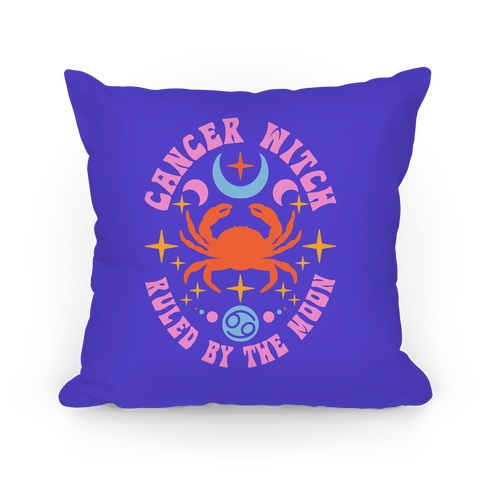 Cancer Witch Ruled By The Moon Pillow