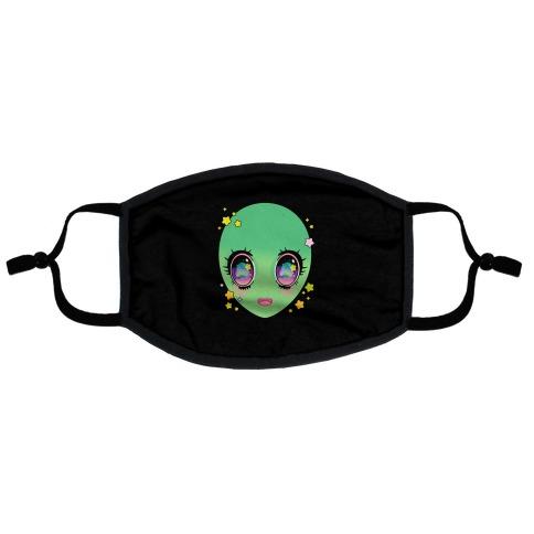 Anime Eyes Alien Flat Face Mask
