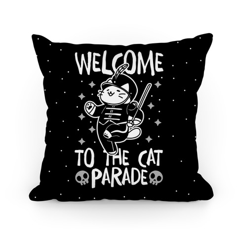 Welcome to the Cat Parade Pillow