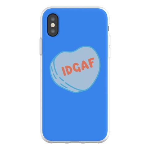 IDGAF Conversation Heart Parody Phone Flexi-Case