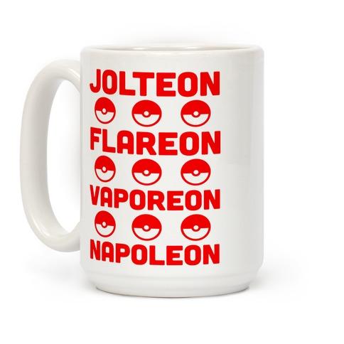 Jolteon Flareon Vaporeon Napoleon Coffee Mug