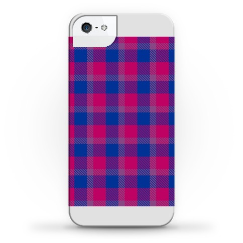 Bi Pride Flag Plaid Phone Case