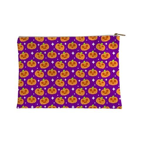 Kawaii Pumpkins Pattern Orange Accessory Bag