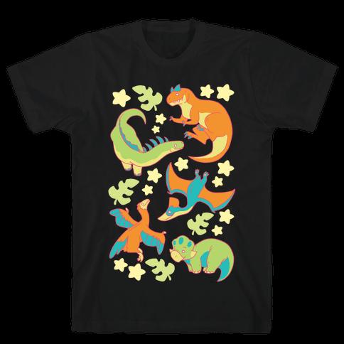 Funky Dinosaur Friends Mens T-Shirt