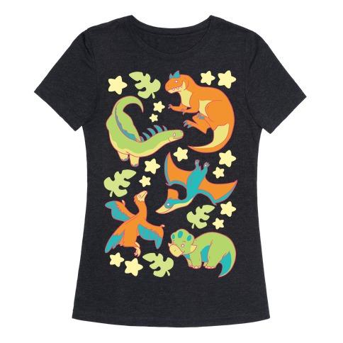 5fad6ee0 Funky Dinosaur Friends T-Shirt | LookHUMAN