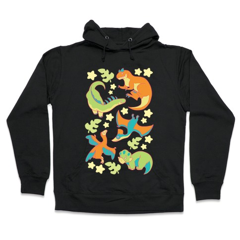 Funky Dinosaur Friends Hooded Sweatshirt