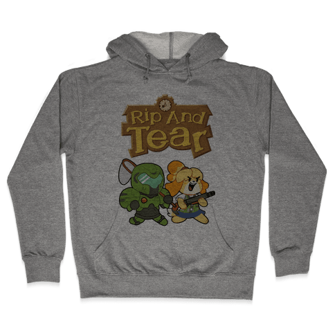 Rip And Tear Hooded Sweatshirt