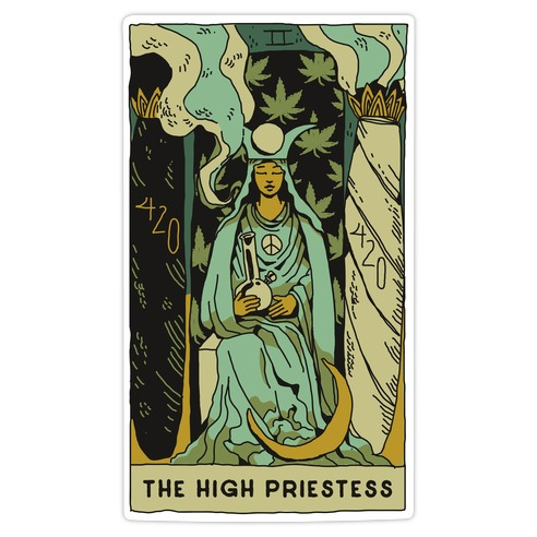 The High Priestess Die Cut Sticker
