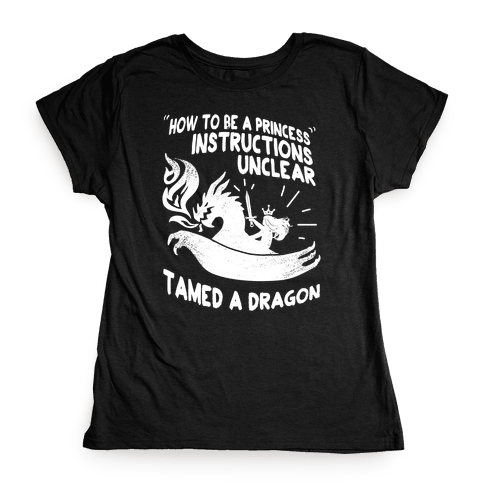 Instructions Unclear, Tamed Dragon Womens T-Shirt