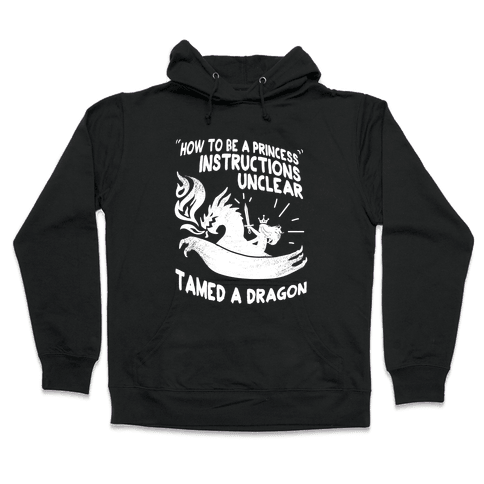 Instructions Unclear, Tamed Dragon Hooded Sweatshirt