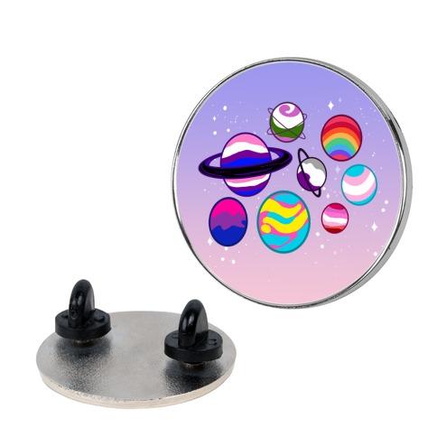 LGBTQ+ Planets Pin