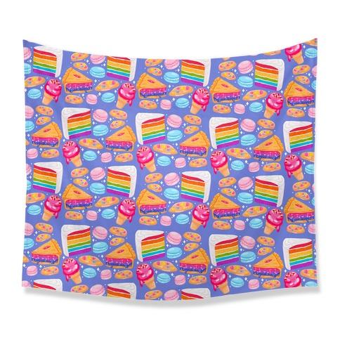 LGBTQ Desserts Pattern Tapestry