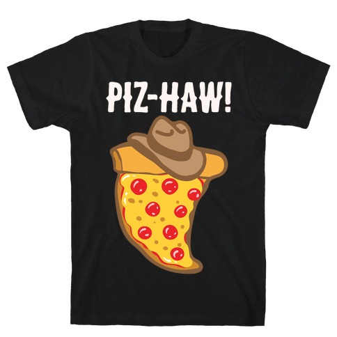 Piz-Haw Parody White Print T-Shirt