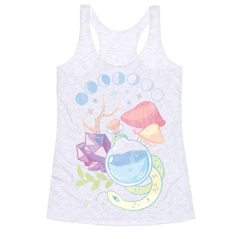 Witchy Pastel Things Racerback Tank Top