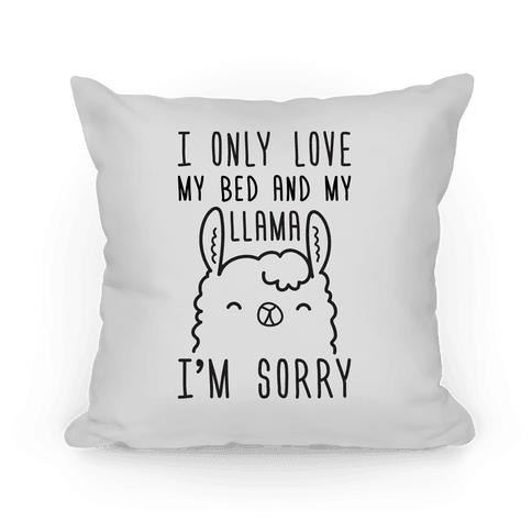 I Only Love My Bed And My Llama, I'm Sorry Pillow