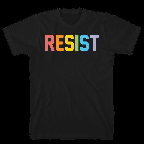 LGBTQ+ Resist Mens T-Shirt