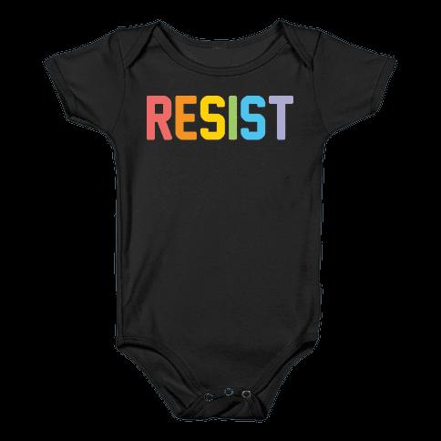 LGBTQ+ Resist Baby Onesy