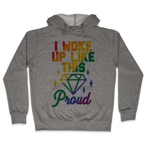 I Woke Up Like This Proud LGBT Hooded Sweatshirt