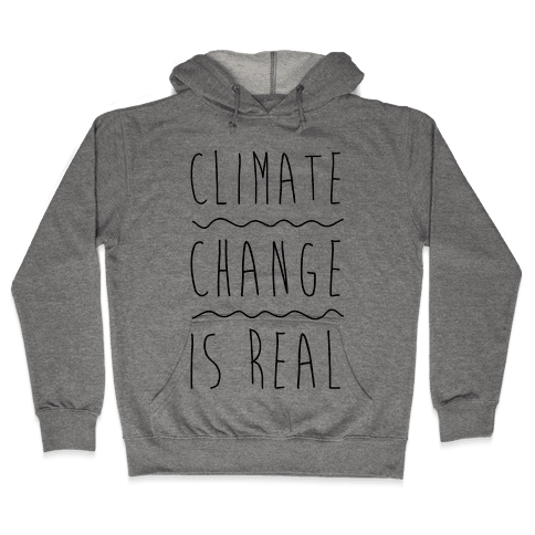 Climate Change Is Real Hooded Sweatshirt